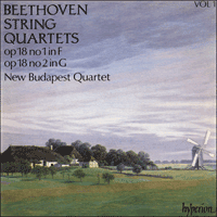 Cover of CDA66401 - Beethoven: String Quartets Op 18 Nos 1 & 2
