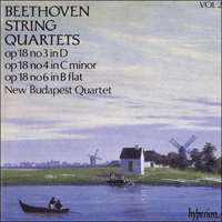 Cover of CDA66402 - Beethoven: String Quartets Op 18 Nos 3, 4 & 6