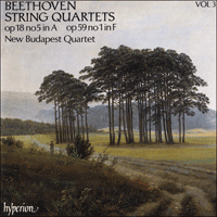 Cover of CDA66403 - Beethoven: String Quartets, Op. 18 No 5 & Op. 59 No 1