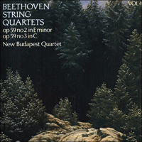 Cover of CDA66404 - Beethoven: String Quartets Op 59 Nos 2 & 3