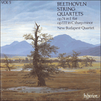 Cover of CDA66405 - Beethoven: String Quartets Opp 74 & 131