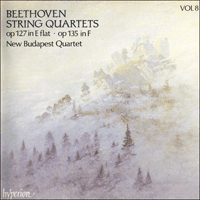 Cover of CDA66408 - Beethoven: String Quartets Opp 127 & 135