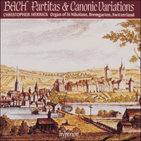 Cover of CDA66455 - Bach: Partitas & Canonic Variations