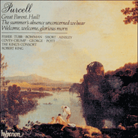 Cover of CDA66476 - Purcell: Odes, Vol. 5 � Welcome glorious morn