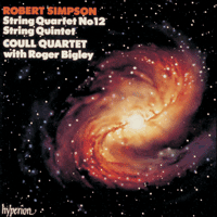 Cover of CDA66503 - Simpson: String Quartet No 12 & String Quintet