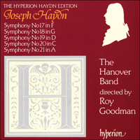 Cover of CDA66533 - Haydn: Symphonies Nos 17-21