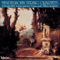 Cover of CDA66579 - Mendelssohn: String Quartets, Vol. 2