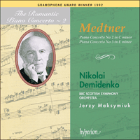 Cover of CDA66580 - Medtner: Piano Concertos Nos 2 & 3