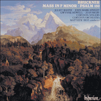 Cover of CDA66599 - Bruckner: Mass in F minor & Psalm 150