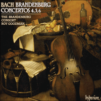 Cover of CDA66612 - Bach: Brandenburg  Concertos Nos 4, 5 & 6