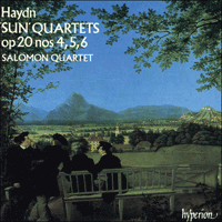 Cover of CDA66622 - Haydn: Sun Quartets Nos 4, 5 & 6