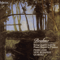 Cover of CDA66652 - Brahms: String Quartet & Piano Quintet