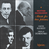 CDA66654 - Medtner & Rachmaninov: Music for two pianos