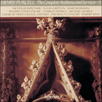 CDA66656 - Purcell: The Complete Anthems and Services, Vol. 5