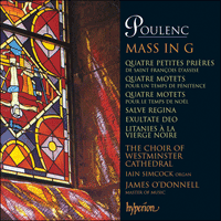 Cover of CDA66664 - Poulenc: Mass & Motets