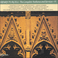 Cover of CDA66693 - Purcell: The Complete Anthems and Services, Vol. 9