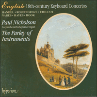 Cover of CDA66700 - English 18th-century Keyboard Concertos