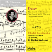 Cover of CDA66729 - Weber: Piano Concertos