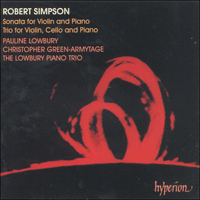 Cover of CDA66737 - Simpson: Sonata for violin and piano & Trio for violin, cello and piano