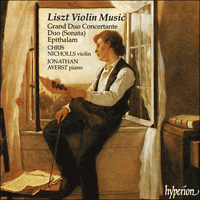 Cover of CDA66743 - Liszt: Violin Music