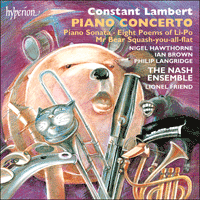 Cover of CDA66754 - Lambert: Piano Concerto & other works