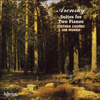 Cover of CDA66755 - Arensky: Suites for Two Pianos