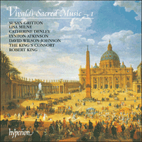Cover of CDA66769 - Vivaldi: Sacred Music, Vol. 1