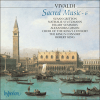 Cover of CDA66809 - Vivaldi: Sacred Music, Vol. 6