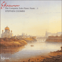 Cover of CDA66833 - Glazunov: The Complete Solo Piano Music, Vol. 1