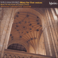 CDA66837 - Byrd: Mass for five voices