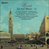 Cover of CDA66849 - Vivaldi: Sacred Music, Vol. 10