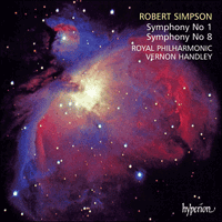 Cover of CDA66890 - Simpson: Symphonies Nos 1 & 8