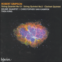 Cover of CDA66905 - Simpson: String Quartet No 13 & String Quintet No 2