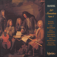 Cover of CDA66921/3 - Handel: 20 Sonatas Op 1
