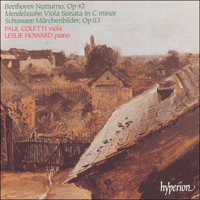 CDA66946 - Beethoven, Mendelssohn & Schumann: Music for viola and piano
