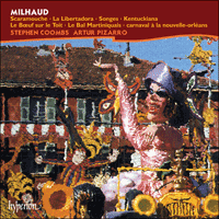 Cover of CDA67014 - Milhaud: Music for two pianists