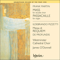 Cover of CDA67017 - Martin: Mass; Pizzetti: Messa di Requiem