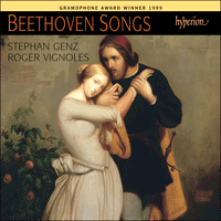 Cover of CDA67055 - Beethoven: Songs
