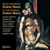 Cover of CDA67108 - Boccherini & Astorga: Stabat mater