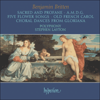 Cover of CDA67140 - Britten: Sacred and Profane & other choral works
