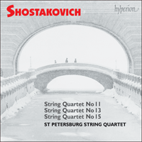 Cover of CDA67157 - Shostakovich: String Quartets Nos 11, 13 & 15