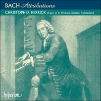 Cover of CDA67263 - Bach: Attributions