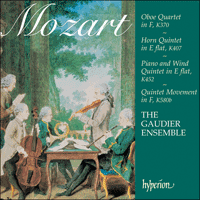 Cover of CDA67277 - Mozart: Oboe Quartet, Horn Quintet & other works