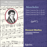Cover of CDA67385 - Moscheles: Piano Concertos Nos 1, 6 & 7