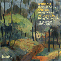 Cover of CDA67429 - Dohn�nyi, Schoenberg & Martinu: String Trios