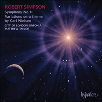 CDA67500 - Simpson: Symphony No 11 & Variations on a theme by Nielsen
