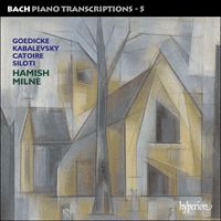 Cover of CDA67506 - Bach: Piano Transcriptions, Vol. 5 � Goedicke, Kabalevsky, Catoire & Siloti