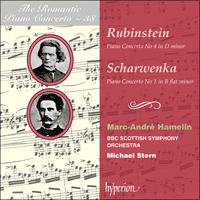 Cover of CDA67508 - Rubinstein & Scharwenka: Piano Concertos