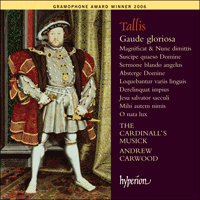 Cover of CDA67548 - Tallis: Gaude gloriosa