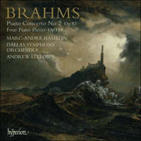 Cover of CDA67550 - Brahms: Piano Concerto No 2